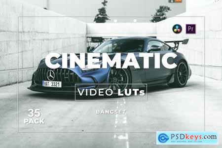 Bangset Cinematic Pack 35 Video LUTs MS5N87G