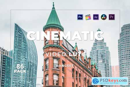 Bangset Cinematic Pack 86 Video LUTs NYUMD4B