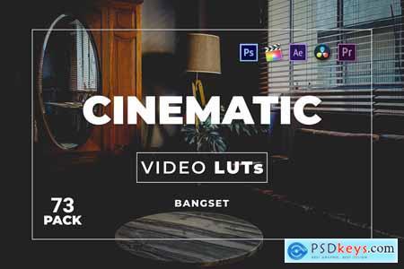 Bangset Cinematic Pack 73 Video LUTs THL7RSC