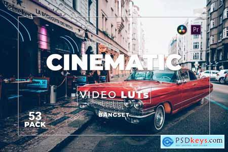 Bangset Cinematic Pack 53 Video LUTs HPZV4NV