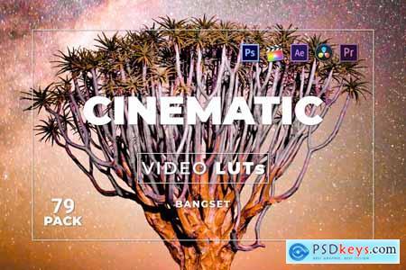 Bangset Cinematic Pack 79 Video LUTs FJ6WLRW