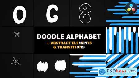 Doodle Alphabet DaVinci Resolve 31823922