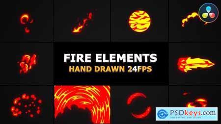 Cartoon Fire FX DaVinci Resolve 31874957