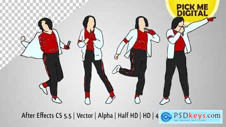 Break Dance Moves in Vector 21600969