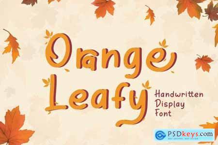 Orange Leafy - Autumn Display Font