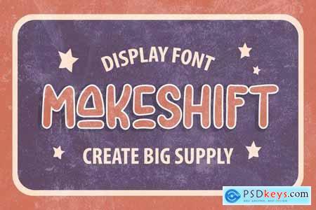 Makeshift - Unique Display font