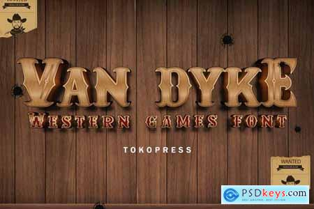 Van Dyke - Western Font