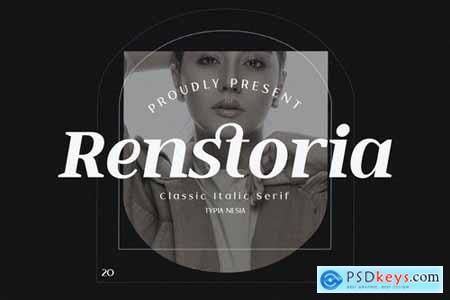 Renstoria - Classy Retro Italic Serif Font