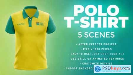Polo T-shirt - 5 Scenes Mockup Template - Animated Mockup PRO 33808963