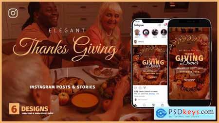 Thanksgiving Day Instagram Promo B136 33828214