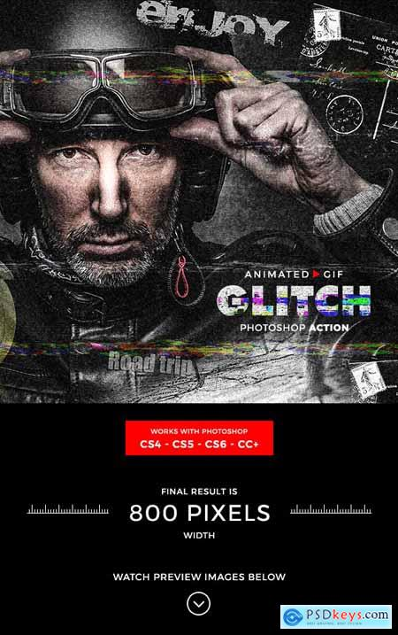 Animated Glitch Photoshop Action 21216240