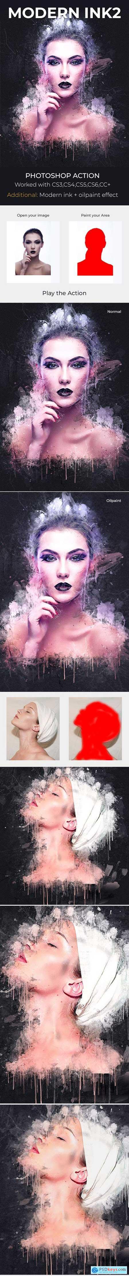 Modern Ink2 Photoshop Action 21208822