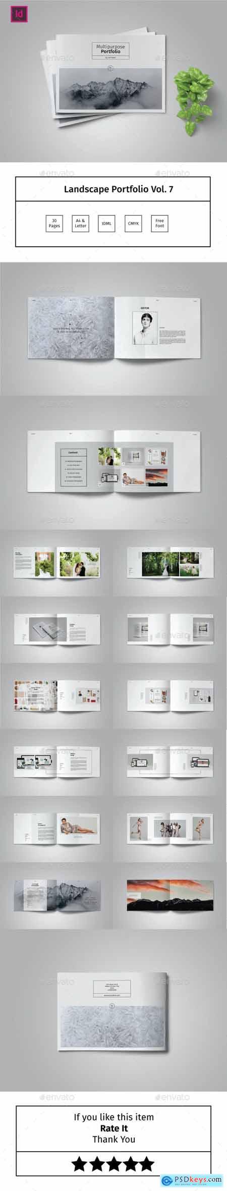 Multipurpose Landscape Portfolio Template Vol.7 21218593