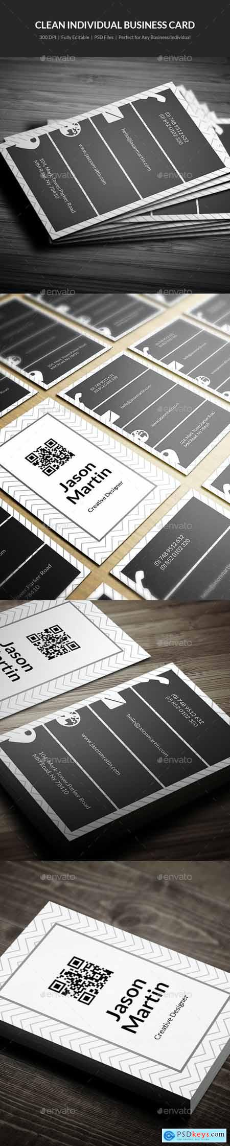 Clean Individual Business Card - 08 21241636