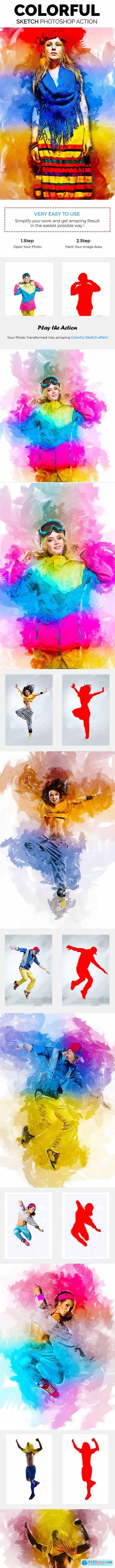 Colorful Sketch Photoshop Action 21216337