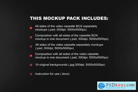 OLD VHS video cassette mockup pack 6473293