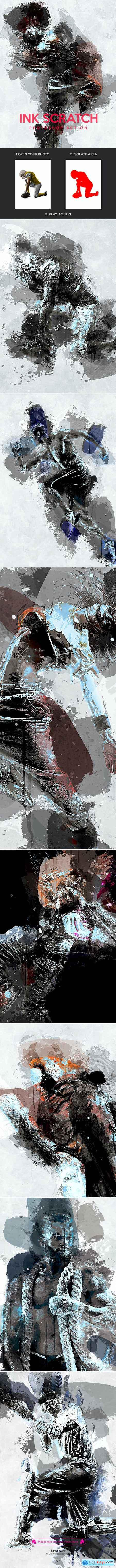 Ink Scratch - Photoshop Action 21318489