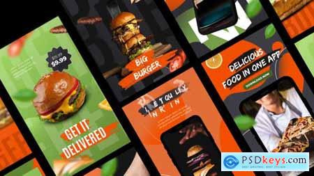 Delivery Food Stories App Promo 33840831