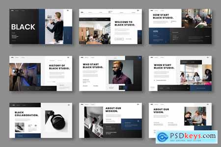 Black - Business Powerpoint, Keynote and Google Slides Template
