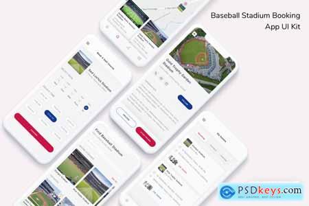 Baseball Stadium Booking App UI Kit 7EQLFTQ