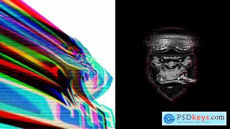 Powerful Glitch Logo Intro 33395109