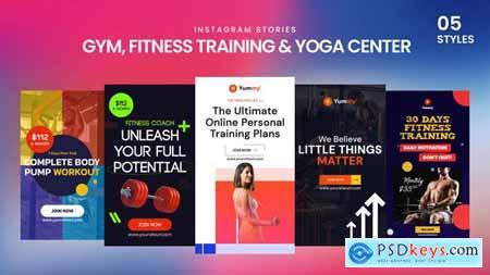 Gym, Fitness Training & Yoga Center Instagram Stories 33860060