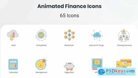 Animated Finance Icon Set 33860183