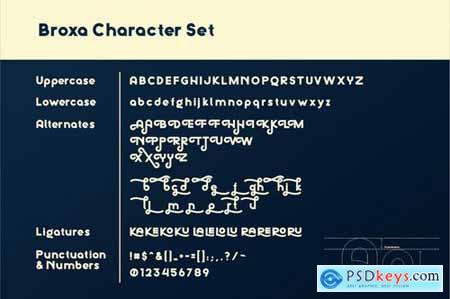 Broxa Decorative Font