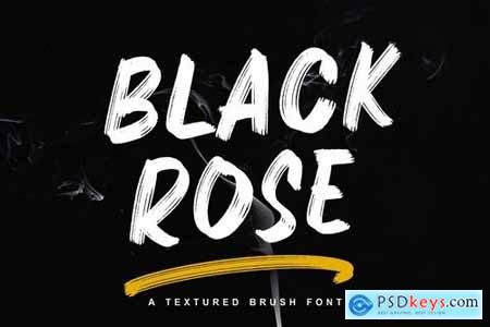 Black Rose - Textured Brush Font
