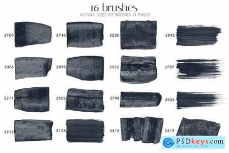 Spatula PS & Procreate Stamp Brushes 6425198