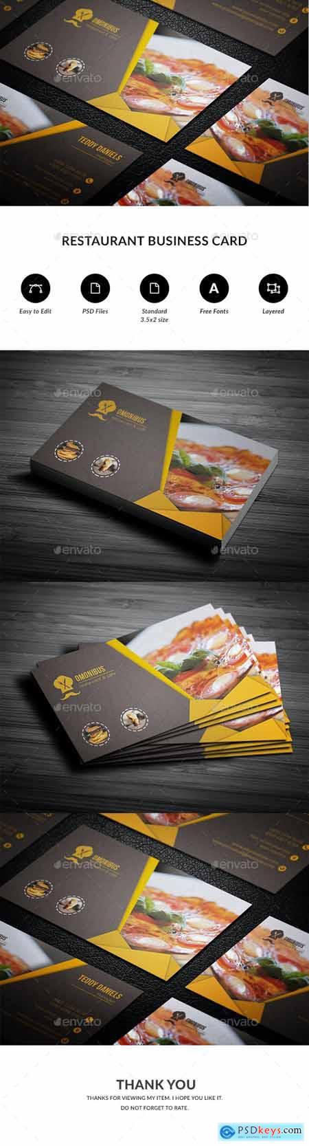 Restaurant Business Card 20648216