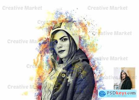 Watercolor Artwork Photoshop Action 6511078