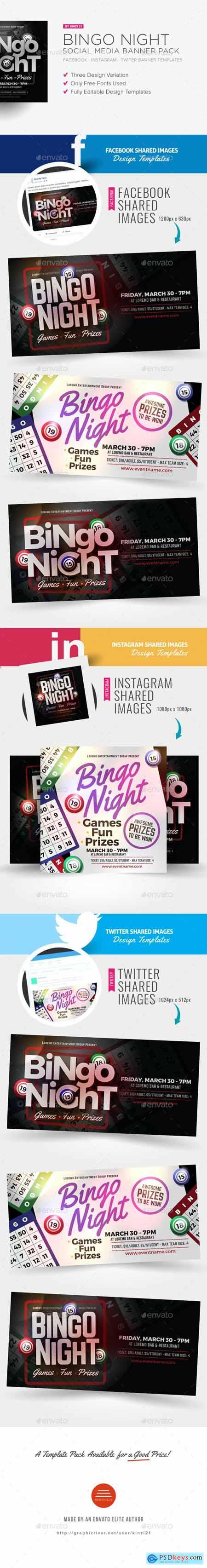 Bingo Night Social Media Banner Pack 20568879