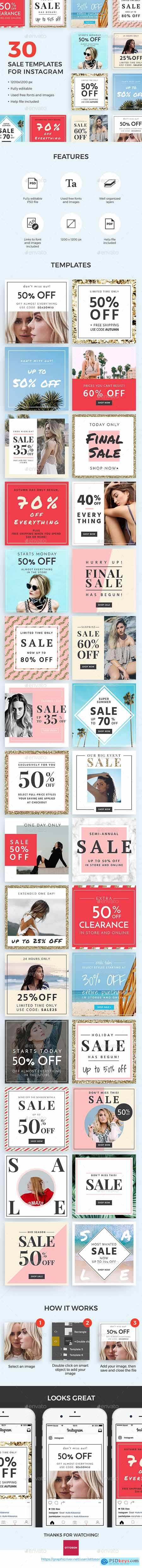 30 Sale Templates For Instagram 20557848