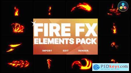 Flash FX Fire Elements DaVinci Resolve 32271854