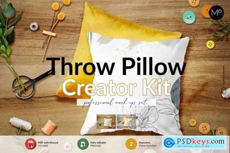 Throw Pillow Creator Kit Mock-ups 6132927