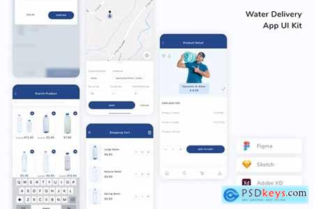 Water Delivery App UI Kit