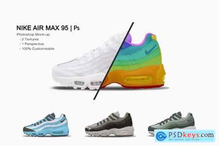 Nike Air Max 95 - Photoshop Mockup 6426104