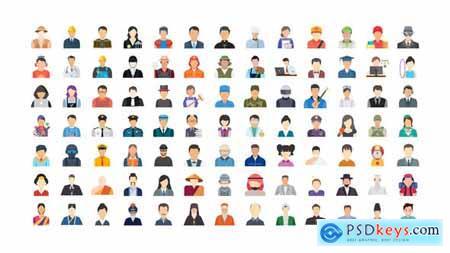 100 Human Avatars Icons 33962790