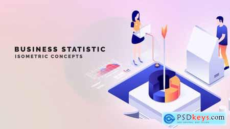 Business statistic - Isometric Concept 33962912