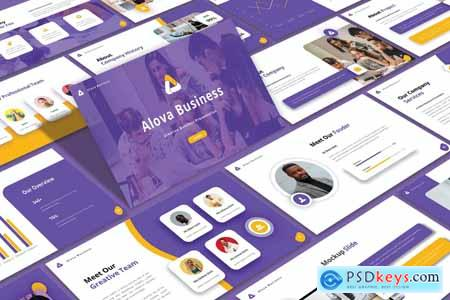 Alova - Business Powerpoint, Keynote and Google Slides Template