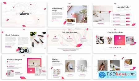 Adorn - Skincare Powerpoint Template 36FR42T