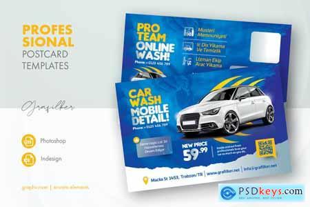 Car Wash Postcard Templates KPCLGUT