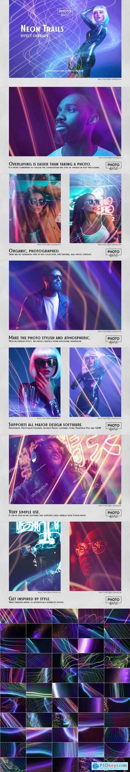 Neon Trails Overlays Effect 33110455