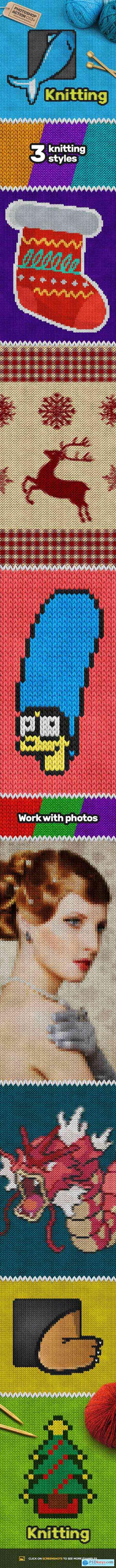 Knitting CS3+ Photoshop Action 18948973