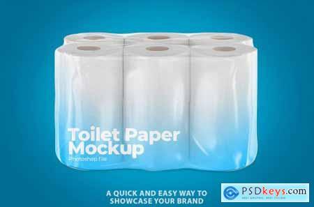 Toilet Paper Package Mockup