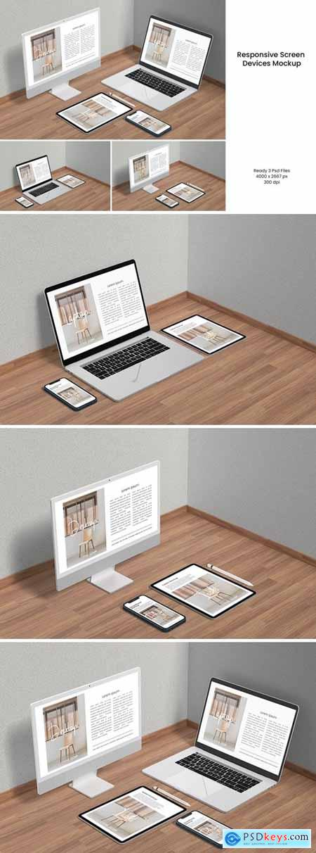 Responsive Screen Devices Mockup