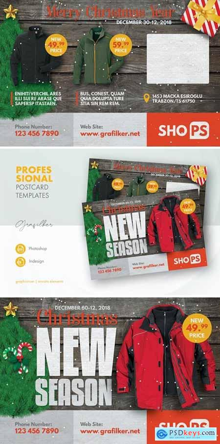 Christmas Products Postcard Templates