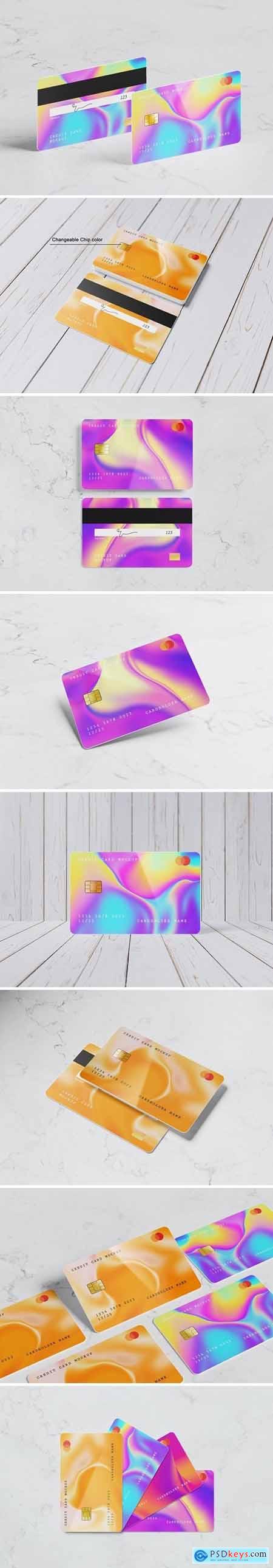 8 Psd Credit Card Mockup