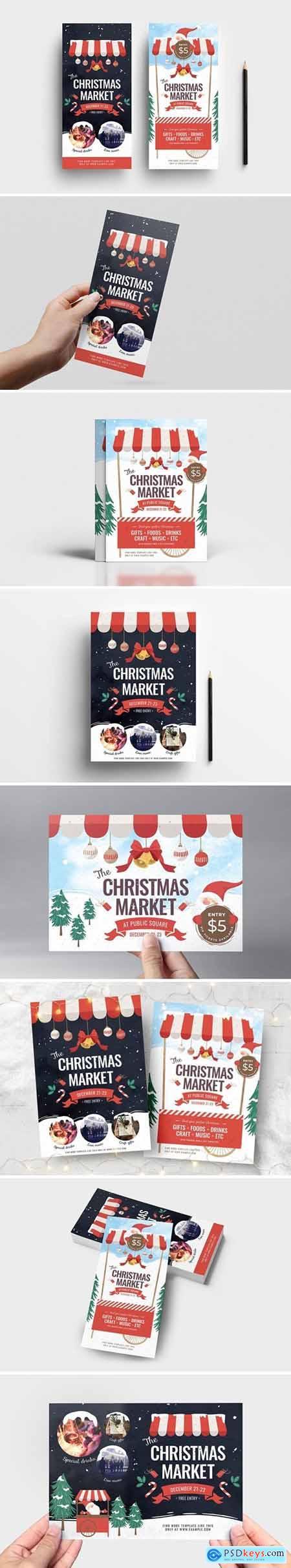 Christmas Market Flyer - Poster Templates